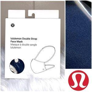 NWT🤩 •LULULEMON•   Iron Blue Double Strap Mask